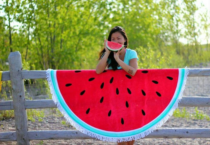 JUICY WATERMELON  You definitely won't have the #lost feeling when you get out of the #water or at the #park. Just look out for the massive #Watermelon. #Juicy as it looks!  Use them as a #beach #towel, #throw or #picnic #blanket.  Made to outlast the #Summer and beyond. 100% premium cotton with tassels.  1500mm in diameter.  Availability: Pre-order for July 2015 arrival  Only at www.casalovina.com #TheSunCircle