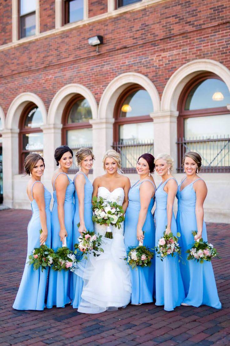 Light Blue bridesmaids dresses - Blue Classic Illinois Wedding | Mager Image Photography - KnotsVilla