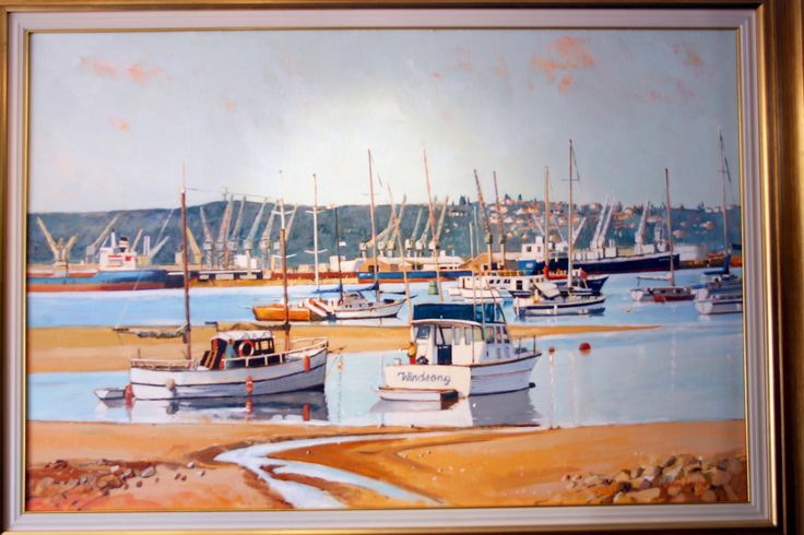 'Windsong' at Durban Bay - oil by John Smith