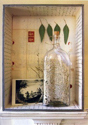 Joseph Cornell's Shadow Boxes I like this one just because it a bottle and it shows the history behind it.
