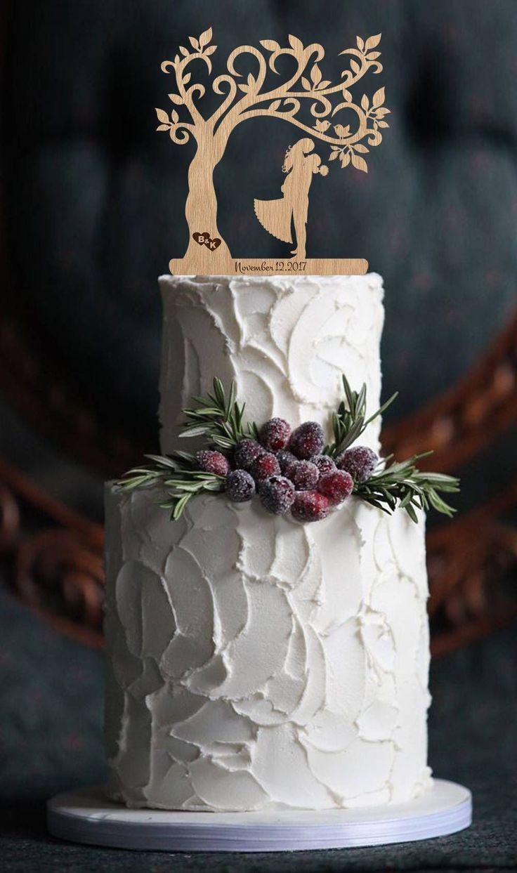 Wedding Cake Topper Mr and Mrs Topper Wood Cake Topper Rustic Cake Topper Silhouette Couple Topper Tree Wedding Cake Topper Wedding Date by WoodenWeddingDecor on Etsy https://www.etsy.com/listing/537615400/wedding-cake-topper-mr-and-mrs-topper #amazingweddingcakesbeautiful
