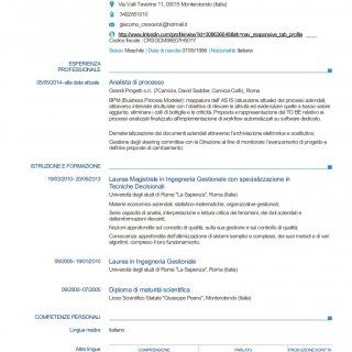 Curriculum vitae INFORMAZIONI PERSONALI Crescenzi Giacomo Via Valli Teverine 11, 00015 Monterotondo (Italia) 3492851010 giacomo_crescenzi@hotmail.it http://. http://slidehot.com/resources/cv-crescenzi-giacomo-05-2015.45081/