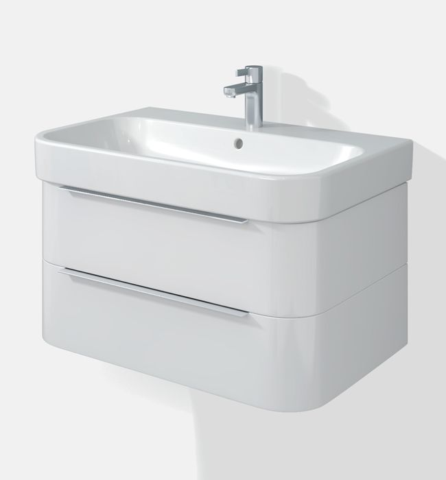 Duravit Happy D2 Two Drawers 625mm Unit With Basin - H26364