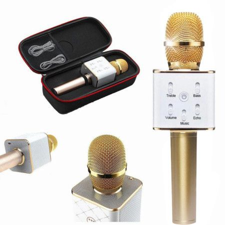 Wireless Microphone Handheld KTV Mike Speaker Bluetooth Connect Recording Sounds For Phone Microphone Professional Singing
