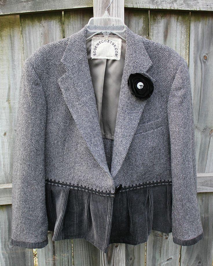 altered refashioned jacket | Flickr - Photo Sharing!