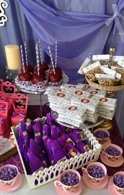 Love all the great details at this Sofia the First birthday party!  See more party ideas at CatchMyParty.com!
