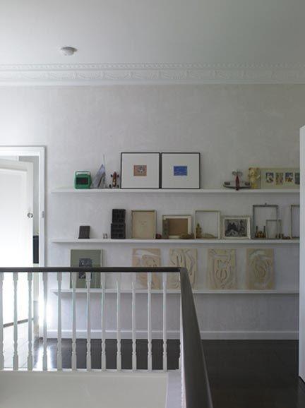 picture ledge(s) in hallways