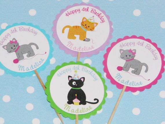 Cat Party Invitations Kitty Birthday Cat Birthday Kitten Party