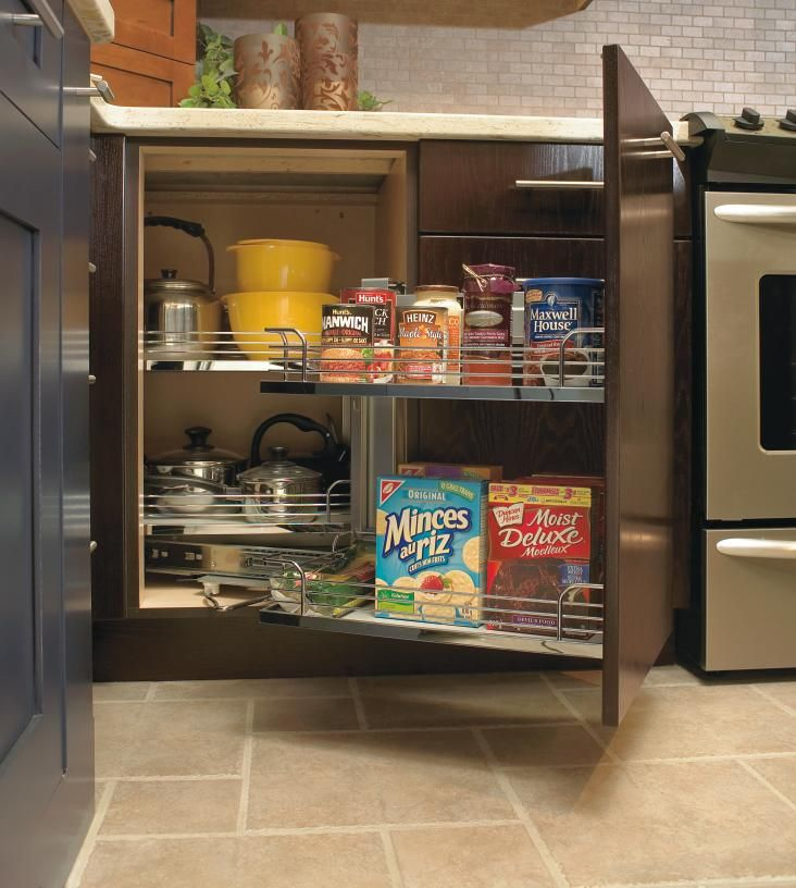 Maximize corner space in your kitchen with kitchen craft 39 s magic corner unit which was recently - Kitchen storage solutions for small spaces concept ...