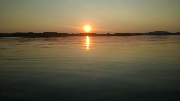 Sunset on lake Saimaa, summer 2014
