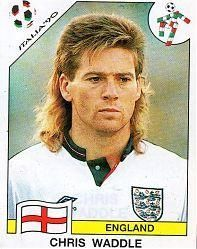 Chris Waddle of England. 1990 World Cup Finals card.