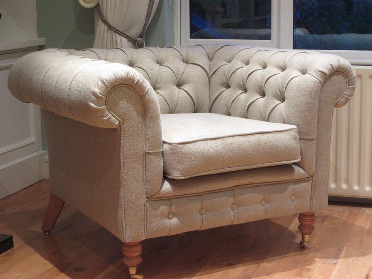 Chair in Ulster Herringbone 100% Irish Linen
