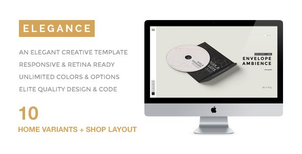 ELEGANCE -  A Simple & Elegant Creative Portfolio. Live preview: http://themeforest.net/item/elegance-a-simple-elegant-creative-portfolio/8770746?ref=designova