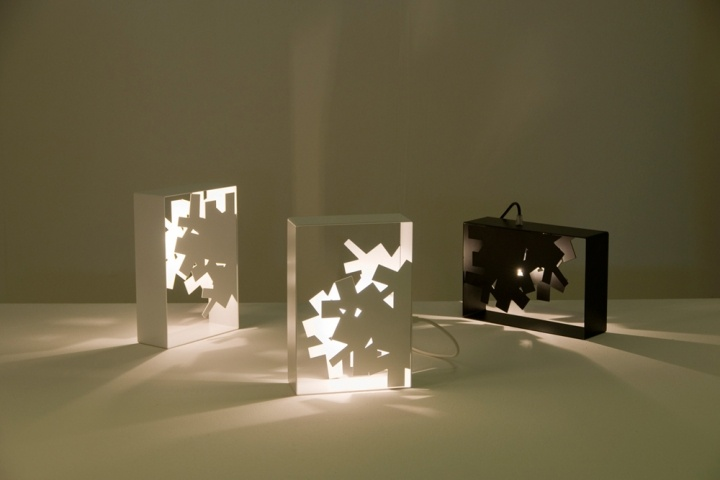 Laser Cut Sheet Metal Table Or Wall Lamps From Designer