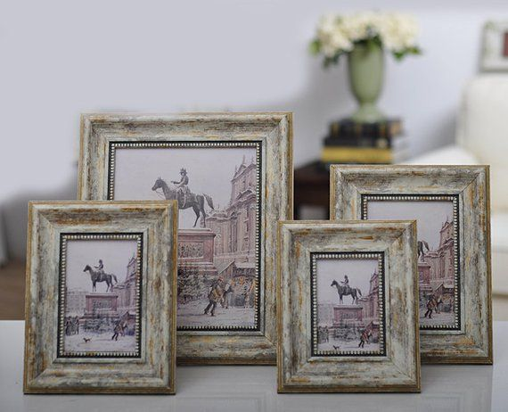 New Vintage Photo Frame Shabby Chic Ivory Cream Gold Etsy Shabby Chic Frames Vintage Photo Frames Gold Photo Frames