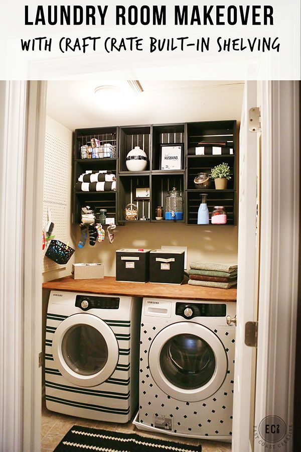 Easy and Inexpensive Laundry Room Makeover - East Coast Creative Blog