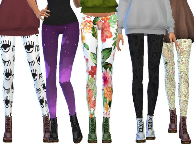 10 more cute tumblr inspired leggings!  Found in TSR Category 'Sims 4 Female Everyday'