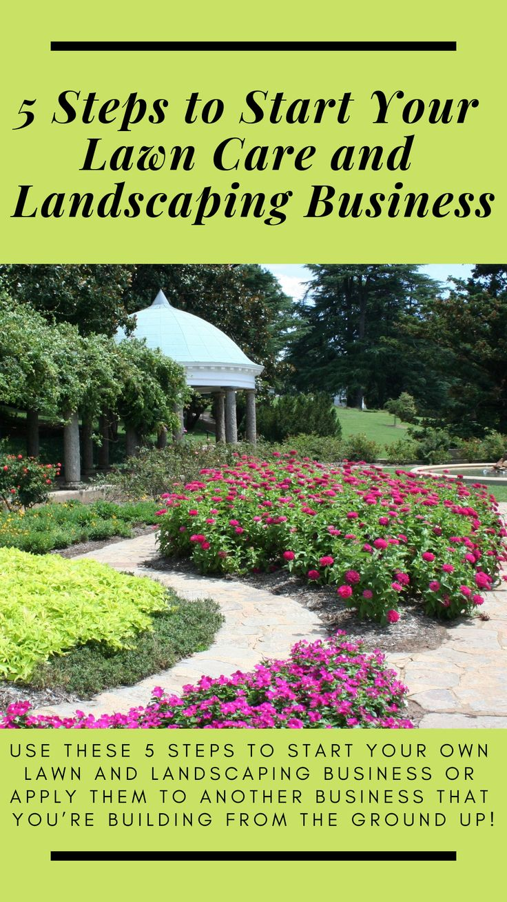 Use these 5 steps to start your own lawn and landscaping