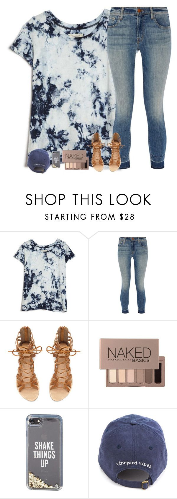 """Rtd!"" by sweet-n-southern ❤ liked on Polyvore featuring Current/Elliott, J Brand, Zara, Urban Decay and Kate Spade"