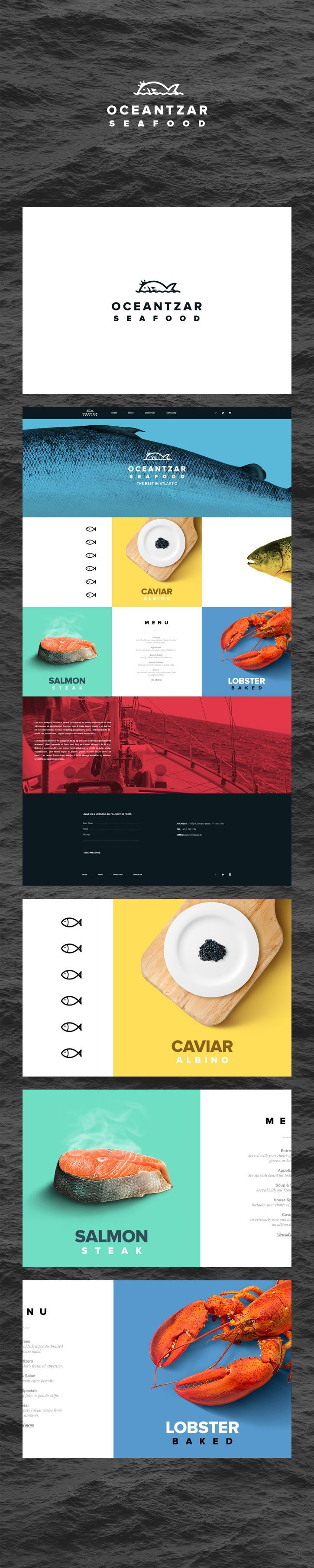 Logo & website design concept for a Seafood Restaurant by Andrei Hancu on Behance