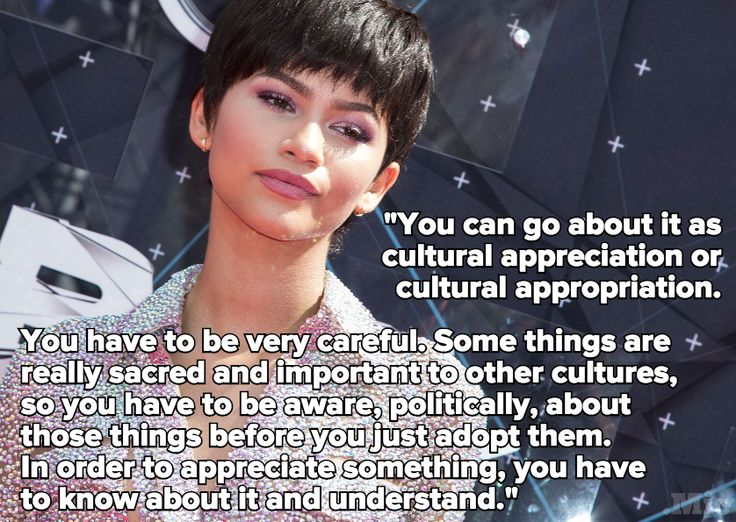 Zendaya Just Said the One Sentence About Cultural Appropriation Everyone Needs to Hear