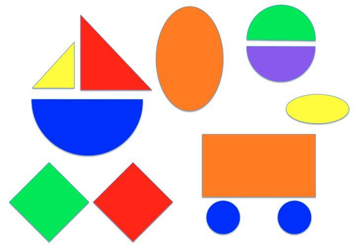 Vormen leren met vormenkaarten