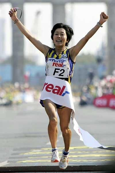 2004 Mizuki Noguchi (Japon) JO Athenes (Grèce)