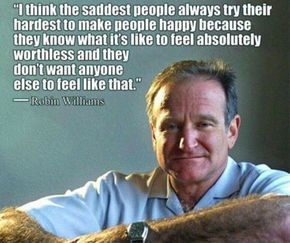 Robin Williams, that famous actor who made us all laugh when he was alive, and cry when he is dead. We all felt very sad when we heard that Robin had passed away, and what increased the pain of grief was the way he died. Nobody expected that Robin Williams was a depressed person, especially when you see him in his comedy movies while he was making us laugh like a drain. But as he said once, all it takes is a beautiful fake smile to hide an injured soul. Here are some of Robin Williams quotes…
