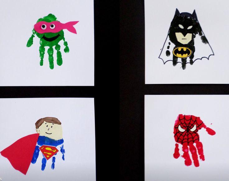 Superhero infants diy forward superhero handprints superhero