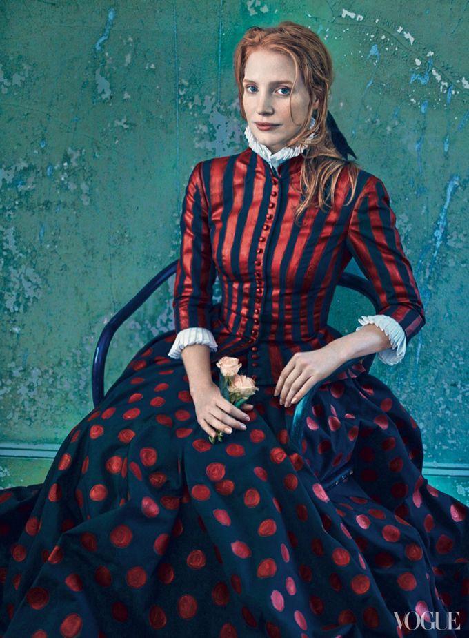 ru_glamour: Джессика Честейн в фотосессии Энни Лейбовиц