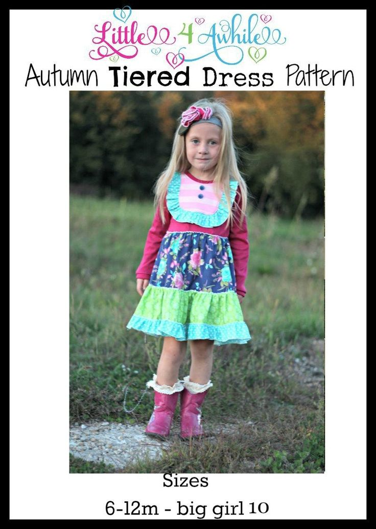 Girls Autumn Dress Pattern  #sewingpattern #sewing #sew #pattern #dress #fabric #clothing #project #sewingaddict #sewingmom