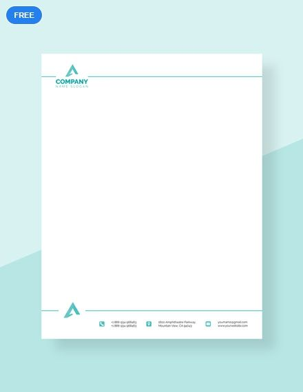free corporate letterhead format letterhead templates designs