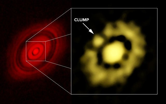 """An article submitted to """"Astrophysical Journal Letters"""" describes a research on the forming planets in the HL Tauri system. An international team used the Karl G. Jansky Very Large Array (VLA) radio telescope to observe new details of what appear to be the first stages of the aggregation of dust and various materials around their star. Read the details in the article!"""