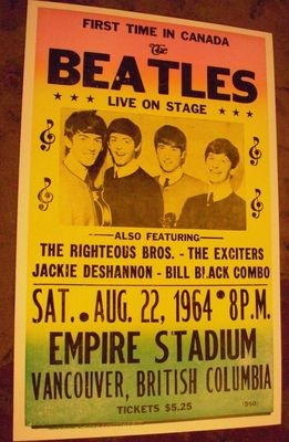 concert poster I think my mom went to this! Reply from mom: you bet I did! Best show ever - I think! Couldn't hear much over the screaming!