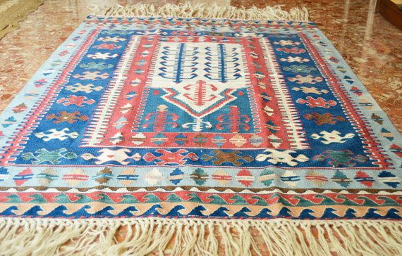 Handmade Afghan Wool Kilim Runner 115cm-160cm by Limbhad on Etsy