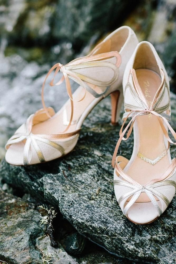 Brautschuhe in Ivory Blush mit Gold, Silber und Rosegold von Rachel Simpson  Shoes 33d62cb367