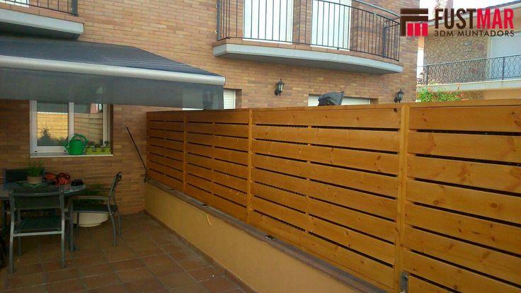 8 best vallas de exterior de madera sinteticas images on - Listones de madera para exterior ...