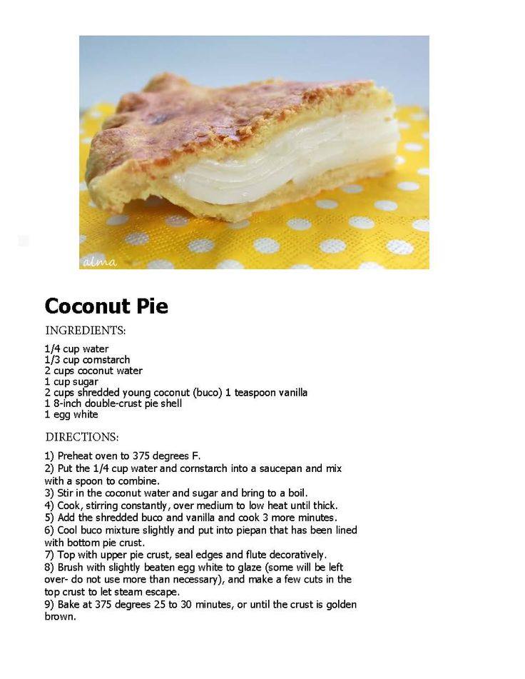 Can get enough coconut? Try this coconut pie recipe famous in the Philippines!
