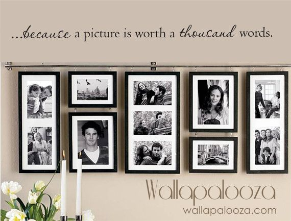 A picture is worth a thousand words wall by WallapaloozaDecals, $22.00
