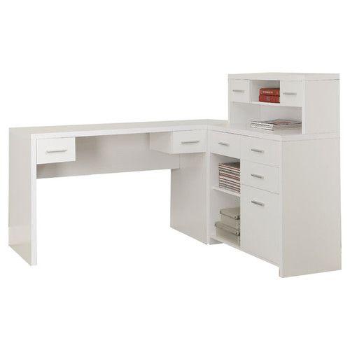 Monarch Specialties Inc. Clarendon Corner Desk with Hutch