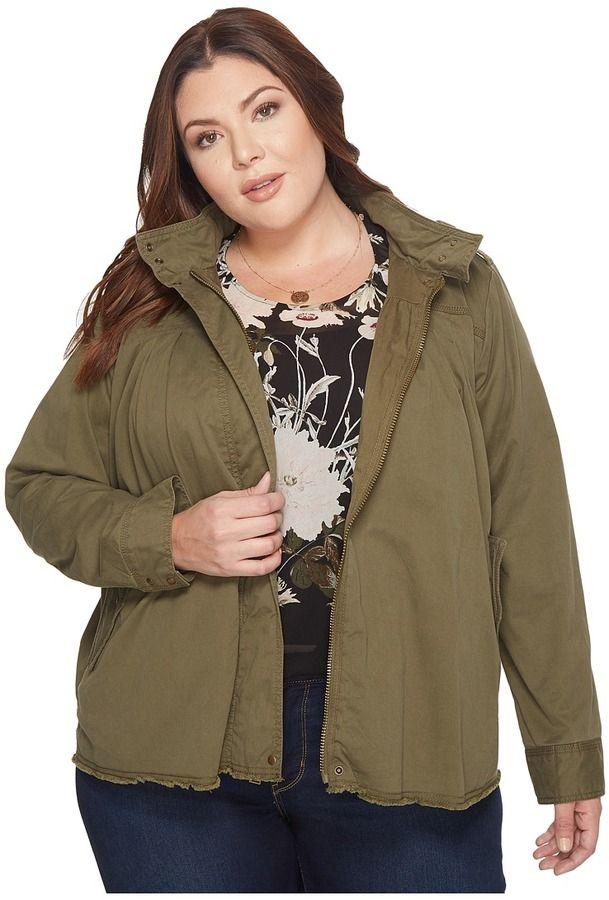 Lucky Brand Plus Size Military Jacket Women's Coat