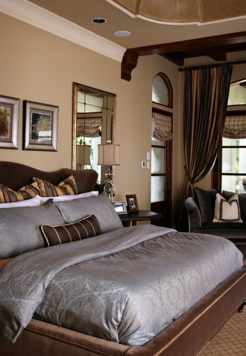 Rich Cozy Bedroom Chocolate Latte And Muted Lavender