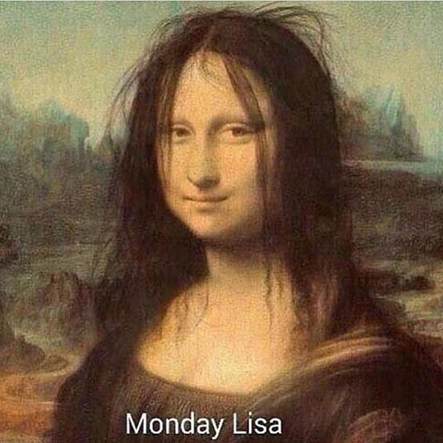 I no longer have Monday blues (yeah!) but I do get the occasional Monday Lisa  via @deborahconnollydesigns  #badhairday #mondaylisa #hairmalfunction #beautymeme #hairfail #hairstories #hair #monalisa #beautyairlines