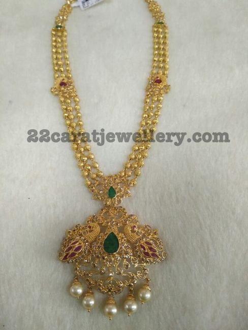 Gold Balls Peacock Set - Jewellery Designs