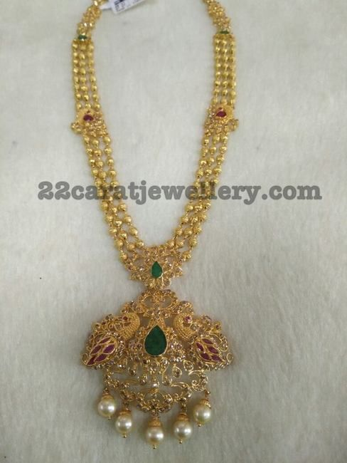 Gold Balls Peacock Set - Jewellery Designs