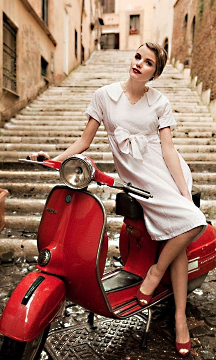 69 best VESPA-GIRL images on Pinterest | 60 s, Hair dos ...