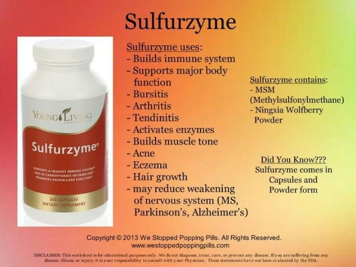 Sulfurzyme 174 Wolfberry With Msm Organic Form Of Dietary