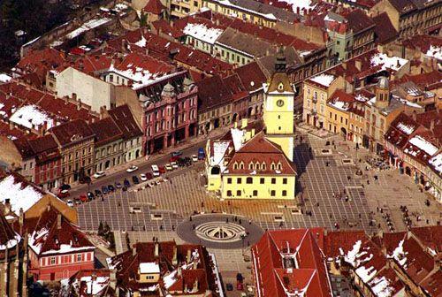The city of sight seeing.  Brasov Romania!
