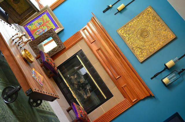 Aalayam - Colors, Cuisines and Cultures Inspired!: India Inspired family room and Dasara Golu