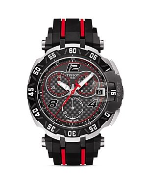 Tissot MotoGP Limited Edition Chronograph @Majordor. Case size: 47mm, Black PVD, Stainless steel case rubber strap, scratch-resistant sapphire crystal.